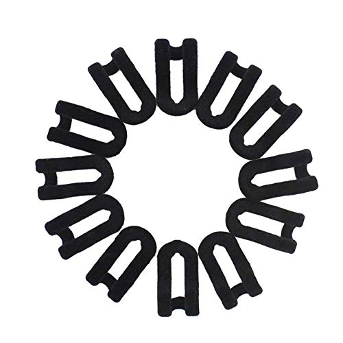 iloving Heißer 50 Pcs Mini Cascading Aufhänger Haken Anschluss Für Stapel Kleidung Und Machen Ihre Closet Platzsparend, Schwarz