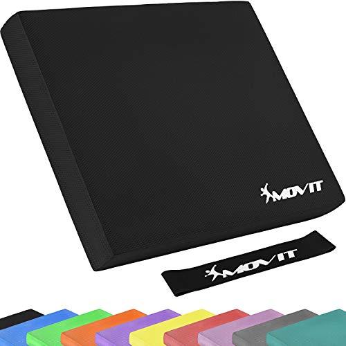 Movit® Balance Pad Sitzkissen schwarz mit Elastic Tapes