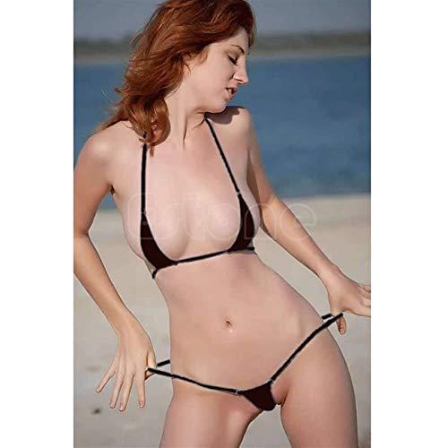 WJY George Horace New Sexy Female Micro-Zapfen-Unterwäsche G-String BH Mini Brasilien Bikini Anzug Badebekleidung Pyjamas (Color Show)