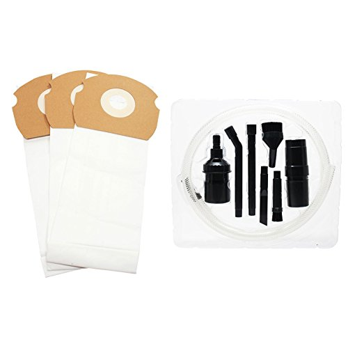Upstart Battery 3 Replacement for Eureka 84404 Vacuum Bags with 7-Piece Micro Vacuum Attachment Kit - Compatible with Eureka 68155, AS Vacuum Bags