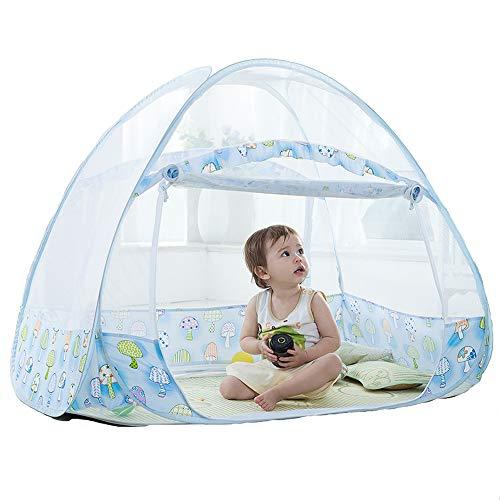 LYS Tente Anti-Moustiques Compte Pour Des Enfants De Moustiquaires à L'ExtéRieur Du DôMe Installation Gratuite Et Pliage Pour EmpêCher BéBé De Tomber Du Lit Tente D'Invasion D'Insectes ,160*80*100cm