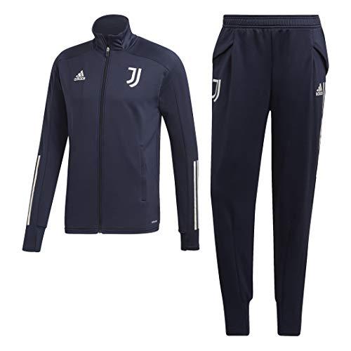 adidas Juve TK Suit, Tuta Uomo, Top:Legend Ink/Orbit Grey Bottom:Legend Ink F17/Orbit Grey S20, M