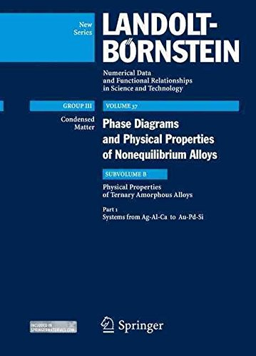 By Takeuchi, Akira Systems from Ag-Al-Ca to Au-Pd-Si: Subvolume B: Physical Properties...