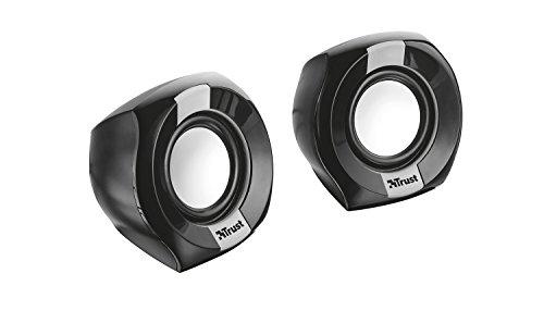Trust Polo - Altavoces de PC 2.0 compactos de 8W, negro