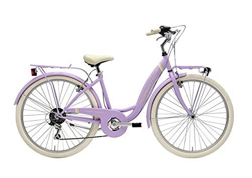 Bicicleta de 26 pulgadas para mujer Adriática Panda Shimano 6 V lila