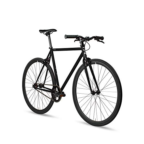 6KU Fixed Gear Single Speed Urban Fixie Road Bike, Slate, 55cm/L, 89498-Fixie-Slate-L-55cm