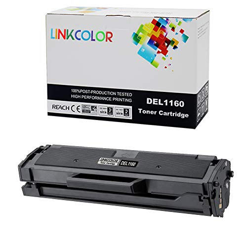 Linkcolor Compatible Toner Cartridge Replacement for Dell 1160 331-7335 YK1PM HF44N HF442 Used in Dell B1160 Dell B1160w Dell B1163w Dell B1165nfw (Black,1Pack)