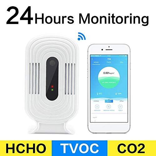 368° Inspiration Luftqualität Messgerät Smart WiFi CO2 HCHO TVOC PM2.5 Meter Luftqualitätsanalyse Tester Sensor Detektor #536987