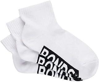 Bonds Women's Logo Quarter Crew Socks (3 Pack)