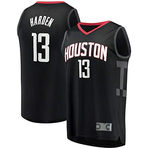 EUEU Camisetas de baloncesto personalizadas James Houston #13 Negro, Rockets Harden Youth Fast Break Player réplica Jersey de secado rápido Deportes de manga corta para niños Edición de declaración