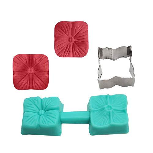 BILINGSLEY Moldes de silicona para magdalenas, múltiples formas de flores, moldes de silicona para hornear, moldes antiadherentes, lavables para magdalenas, horno, microondas y lavavajillas