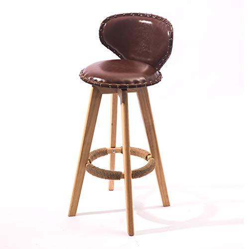 C-J-X STOOL/CHAIR C-J-Xin Drehen Sie Barhocker, Restaurant-hölzernen hohen Schemel, der Stuhl-Bargegenschemel-Retro- Stuhl, 37 * 37 * 73CM speist Dekorativer Hocker (Color : #2)