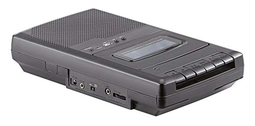 Lecteur de cassette mobile & numériseur USB avec haut-parleur, prise casque et microphone [Auvisio]