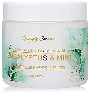 Galaxy Secret Moisturizing Facial & Body scrub - Dead Sea Salt Infused with Organic Mint & Eucalyptus Essential Oils.Deep ...