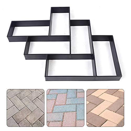 DYRABREST L Type Paving Mold Walk Maker, DIY Path Mold Maker Concrete Stepping Stone Mold Paving Stone Mold for Walkways/Gardens/Backyard/Patio/Lawn
