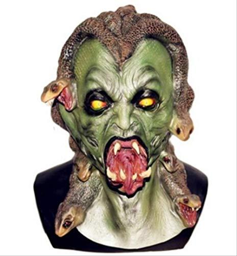 tytlmaske Griechische Mythologie Schlange Gorgon Maske,Deluxe Adult Latex Monster Maske,Medusa Maske,Für Halloween Karneval Weihnachten Ostern Party Requisiten
