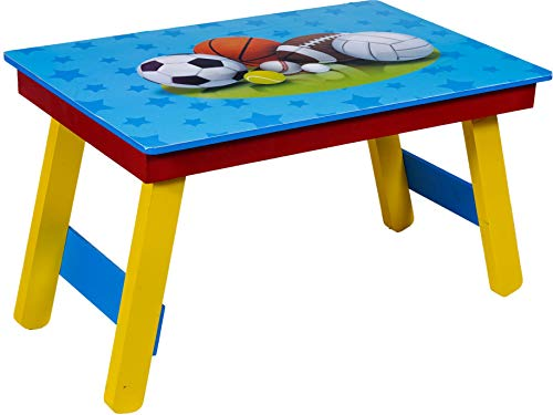 KIDDYPARTIES Kids Wooden Folding Study Table   Multipurpose Flexible Lapdesk for Girls and Boys   Laptop Table for Homeschool and Classrooms