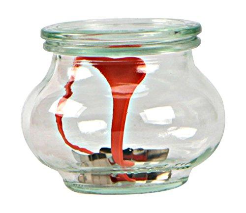 Weck Topf Set Gläser 220ml mit Deckel von 60mm, komplett mit Dichtung und Clips, Dose 12Stück, Glas, transparent