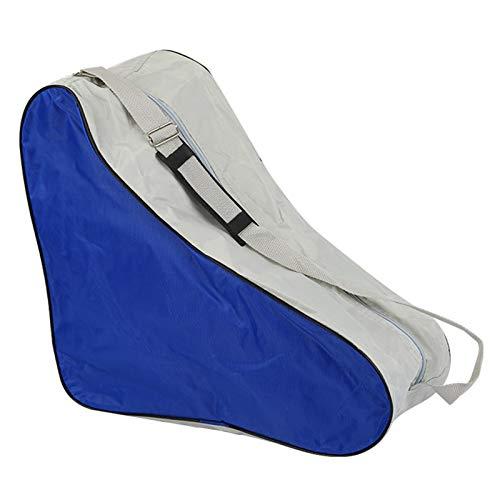 Washranp Bolsa de patinaje sobre hielo, bolsa de patín, correa de hombro ajustable al aire libre, bolsa de transporte universal para botas de silla de montar para adultos y niños, color azul