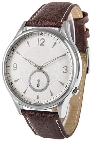 Funk-Armbanduhr, Edelstahl, mit Sekundenanzeige