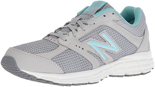 New Balance Women's 460v2 Cushioning Running Shoe,  Silver/Blue, 10 M US