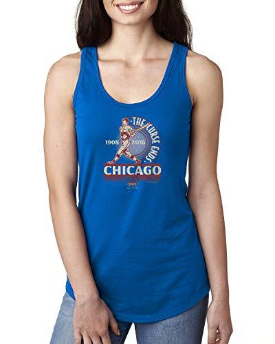 Nalie Sports Chicago Baseball-Fans. The Curse Ends Damen-T-Shirt, Größe S-XXL, Damen, königsblau, X-Small