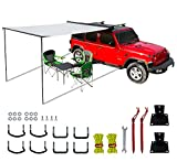 leaveshade Car Awning Heavy Duty Retractable SUV Rooftop Side Tent ● 2500x2500 mm 8'3''x8'3'' ● Innovated Premium Material&Accessories ● Waterproof, UV, 30oz Vinyl Case