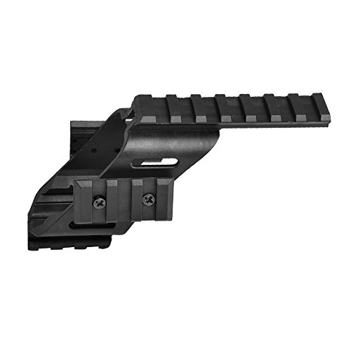 Higoo Universal Tactical Pistol Scope Sight Polymer Mount with Quad Weaver Picatinny Rail Compatible with Glock 17 5.56 S&W/1911/Glocks/Walther p22/HKp30/SD9VE 9mm