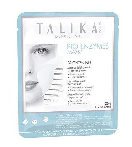 TALIKA Bio Enzymes Máscara Blanqueadora - Máscara De Biocelulosa Para Una Tez Apagada Y Con Manchas Oscuras - Máscara Con Efecto Segunda Piel, Multicolor, Coco
