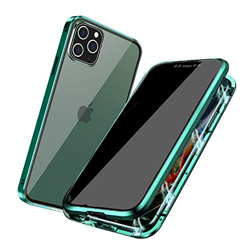 Privacy Magnetic Case Compatible with iPhone X/XS/10, Anti-peep Magnetic Adsorption Case, Front & Back Tempered Glass Full Screen Coverage, Thin 360 Full Protective Phone Case for X/XS/10