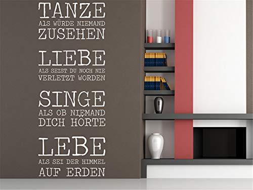 Wandtattoo Selbstklebend Flur Tanze Liebe Singe Lebe Wohnzimmer Schlafzimmer Aufkleber