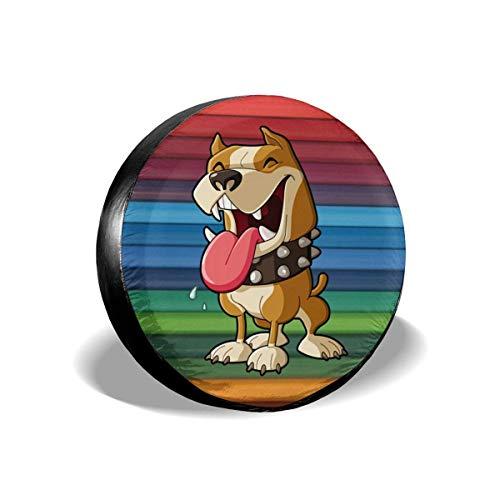 StarW Copertura della Ruota di scorta American Pit Bull Terrier Bulldog Boston Terrier Pitbull Copriruota Universale per Camion Jeep Rimorchio SUV Camion 17 Pollici