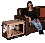 Pet Gear The Other Door Steel Crate with Fleece Pad for cats and dogs up to 30-pounds, Tan