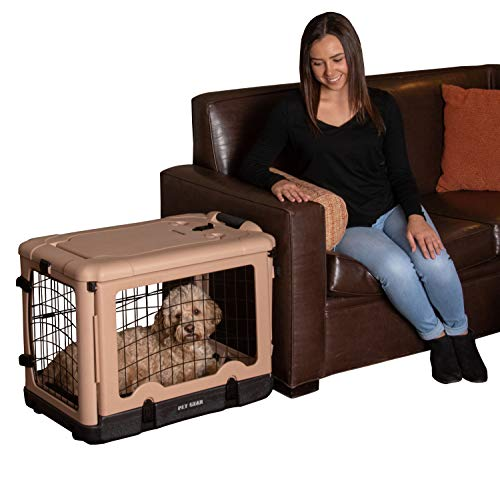 Pet Gear The Other Door Steel Crate with Fleece Pad for cats and dogs up to 30-pounds, Tan | AmazonPets Crates Dog Free from Keep Kennels Prime products Selection Selections Shipping Supplies Them Top Two-Day Waiting? Why