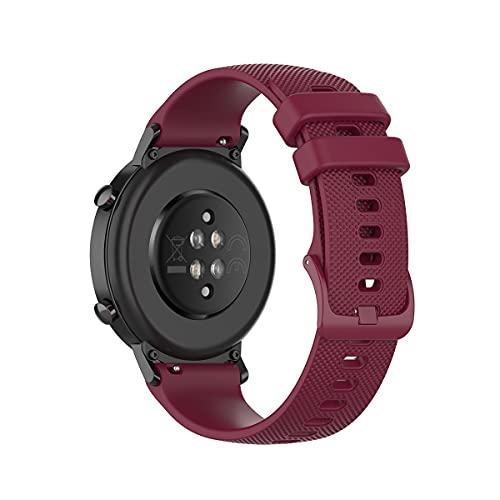 WEINISITE 20 mm Correa Compatible con Garmin Vivoactive 3, Forerunner245, Forerunner645, Garmin venu, Galaxy Watch active2, Watch 3 41mm,Polar Unite,Silicona Repuesto Pulsera (Rojo)