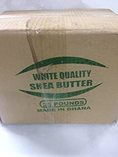 afrimports African Shea Butter 100% Natural, White, 10 lb.