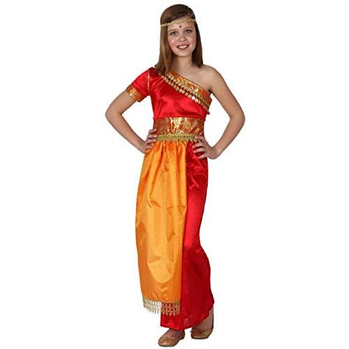 ATOSA disfraz hindu niña infantil naranja 10 a 12 años