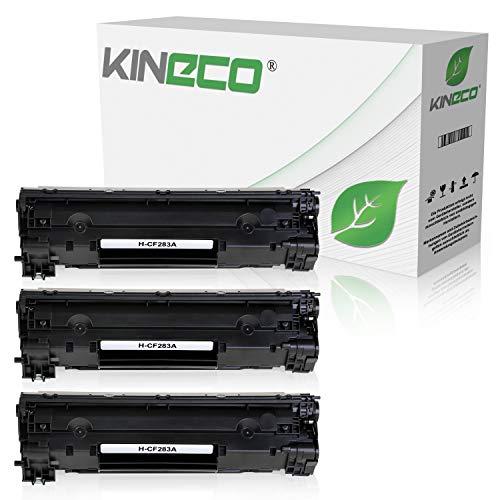 3 Kineco Toner kompatibel zu HP CF283A 83A Laserjet Pro MFP M125nw, M126nw, M127fw, M128fp - Schwarz je 1.500 Seiten