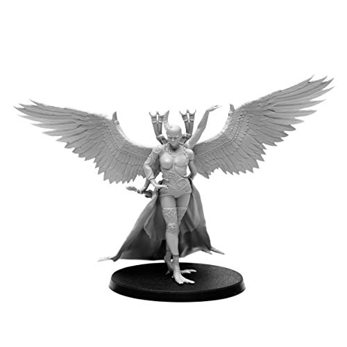 28mm Heroic Scale Wargaming Role Playing Miniature Figures AstroDemons - Unpainted Resin Miniatures for Tabletop Wargames - Demon Miniature Talitha