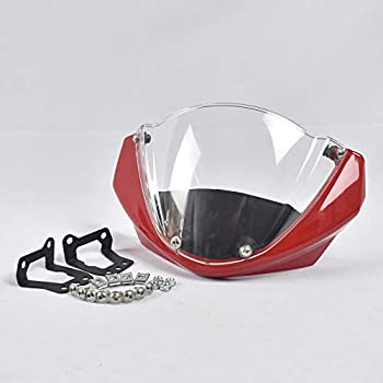 ALBBMY Windshield Head Cover Fit for Ducati Monster 696 795 796 1100 Spoiler Windscreen  Color   Windshield seat