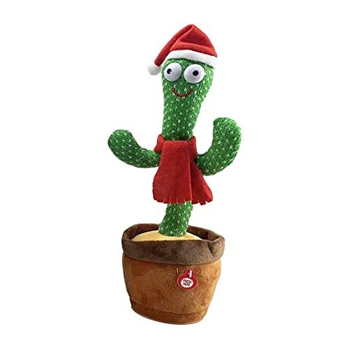 mooderf Cactus Peluche Juguetes Bailando Cactus electrónico Tres Canciones inglesas Cantando Reducir el estrés Cactus Juguete temprano Infancia educación Juguete Regalo de cumpleaños para niños
