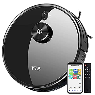 YTE X580 Robot Vacuum, Robotic Vacuum Cleaner with Lidar Navigation & Smart Mapping, 2700Pa Suction, Scheduled & Zone Cleaning, Self-Charging, Works with Alexa, Ideal for Pet Hair Hard Floors Carpets