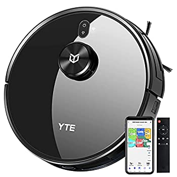 YTE Robot Vacuum with Lidar Mapping Technology 2700Pa Strong Suction Self-Charging Scheduled & Zone Cleaning Works with Alexa Robotic Vacuum Cleaner for Pet Hair Hard Floors Carpet