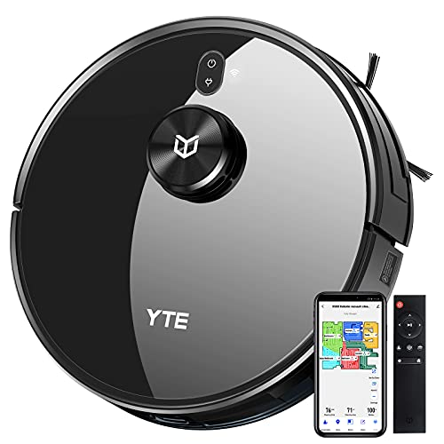 YTE Robot Vacuum with Lidar Mapping Technology, 2700Pa Strong Suction, Self-Charging, Scheduled & Zone Cleaning, Works with Alexa, Robotic Vacuum Cleaner for Pet Hair, Hard Floors, Carpet