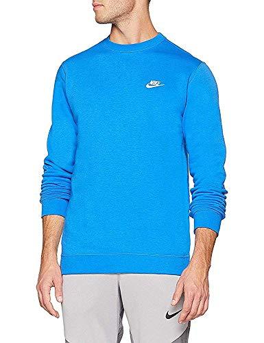 NIKE M NSW Club CRW BB - Camiseta de Manga Larga, Hombre, Multicolor(Signal Blue/White)