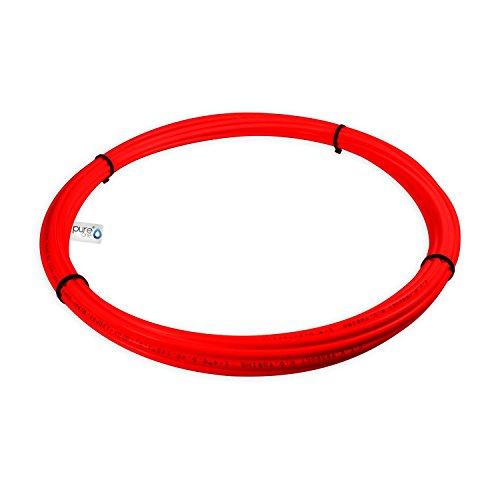 PureOne Systemflex Osmose-Schlauch 1/4 Zoll Wasserschlauch für Wasserfilter, Side-by-Side SBS Kühlschrank, Osmoseanlage, Spülmaschine, Waschmaschine oder Aquarium. Größe wählbar. Rot