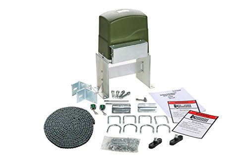 TOPENS CK700 Automatic Sliding Gate Opener Kit Sliding Gate Motor for Heavy Duty Slide Gates Up to 1600 Pounds and 40 ft, Chain Driven Driveway Security Slide Gate Operator