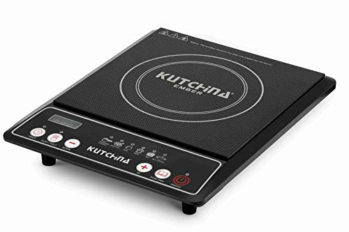 Kutchina Ember 2000 Watt Black Induction cooktop with ABS Plastic Body & Heating Coil Element