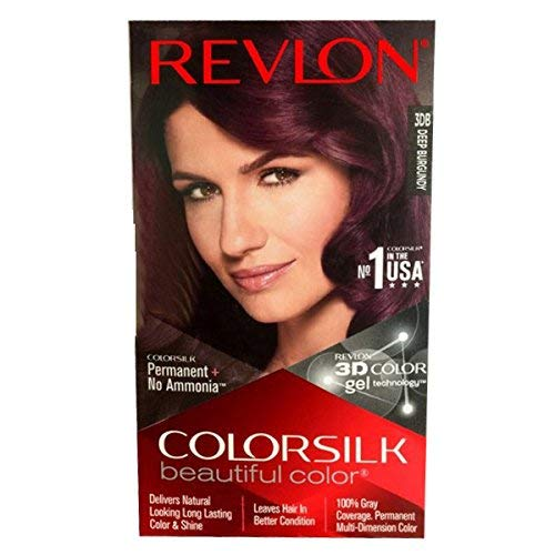 Revlon Colorsilk Hair Color With 3D Gel Technology, 3Db Deep Burgundy