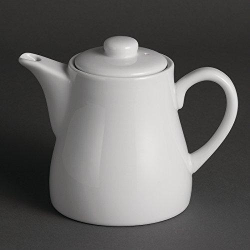 Olympia u822tetera de porcelana, blanco (Pack de 4)